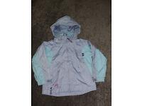 Girls hooded spring waterproof coat 3-4 years