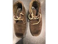 Chocolate desert boots