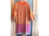 Asian fancy shalwar kameez hot pink and orange