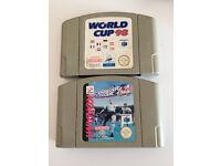"N64 football games - ""World cup 98"" & ""International Superstar Soccer 64"""