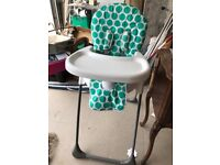 Two matching adjustable high chairs for sale £15 each