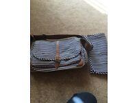 Striped changing bag
