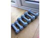 Set of dumbbells 0.5kg, 1kg, 1.5kg fitness weight loss new