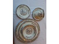 """Wedgewood Bone China """"Kutani Crane"""" Dinner place setting in mint condition - as new."""