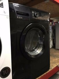 BEKO 6KG WASHING MACHINE BLACK RECONDITIONED