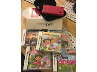 DSi with 5 games and charger (pink)