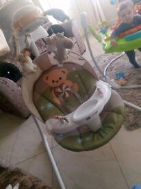 Unisex baby swing chair
