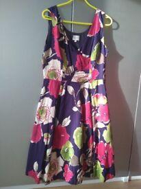 Beautiful Multicoloured Kaliko dress. Size 14.
