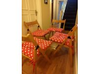 4 * ikea TERJE folding chairs (with cushions)