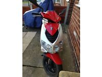 2006 Peugeot Speedfight 100 Scooter - Full MOT - Red and Silver - 33367 KM On Clock