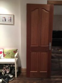 2 Mahogany interior hard wood doors. For sale together at £45 or individually (see description).