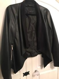New Look - Faux leather waterfall jacket - Size 8