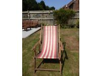 Deck chair. traditional timber & canvas construction
