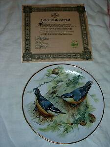 SET OF 8 EUROPEAN SONGBIRD PLATES WORLD WILDLIFE FUND (GERMAN) London Ontario image 8