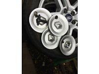 2004 Renault modus set of alloy wheel centre caps - free postage