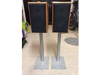 Mordant Short MS902 speakers with silver Gale speaker stands included.