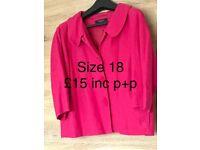 Ladies jacket size 18 3/4 sleeves