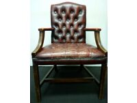 Chesterfield Gainsborough Chair in Antique Red Leather