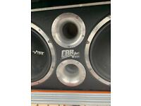 VIBE SUBWOOFER and JBL CAR AMP