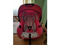 Obaby Like new stunning pink carseat
