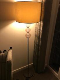 Standard Lamp - bronze & glass balls