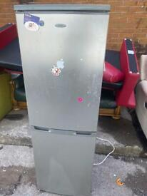 SILVER FRIDGE FREEZER USED IN GOOD CONDITION