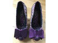 Irregular choice Kim Bow shoes size 41