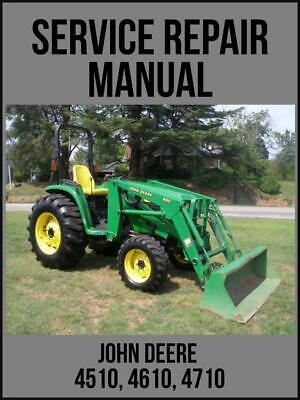 John Deere 4510 4610 4710 Utility Tractor Service Technical Manual Tm1986 Usb