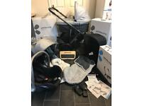 uppababy vista boxed travel system pram pushchair buggy board car seat three twin double