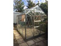Greenhouse 8' X 6' aluminium frame with glass