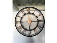 Black and bronze Giant wall clock