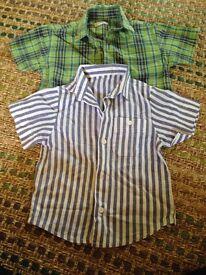 Boys summer shirts 12-18 months