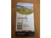 2 X Dubai Duty Free Irish Open Tickets