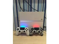 Sony PlayStation 4 Slim 500GB Glacier White Console with controllers & games bundle