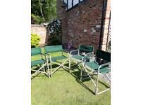 4 folding travel garden directors chairs