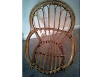 Unusual Child's Nursery cane chair with cushion