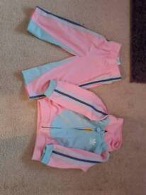 Baby girl adidas tracksuit outfit 9-12