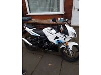Lexmoto xtrs125 in white in very good condition 2016