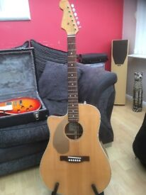 Electro acustic left handed guitar