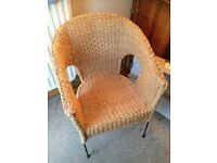 Good size whicker/rattan armchair excellent condition LAST DAY PRICE REDUCED