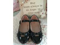 Ted Baker girls black patent shoe size 7