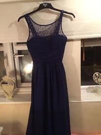 Prom dress bridesmaid size 14 blue