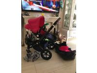 Bugaboo cameleon 2 navy and pink