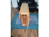 Butterfly table and chairs excellent condition only used one day or Christmas day