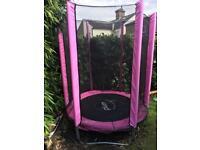 Pink Junior Trampoline 4.5ft by plum