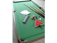 Pot Black Table Top Snooker Table 6ft x 3ft