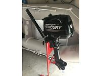 inflatable boat and outboard mercury