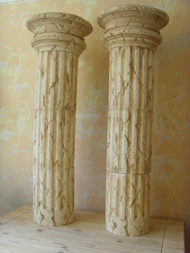 Roman Style Column Pedestal Sculpture Stand Plant Holder