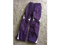Ladies winter ski trousers/salopettes size 8