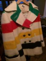 Hudson Bay Point Blanket Coat 100% wool CA000234